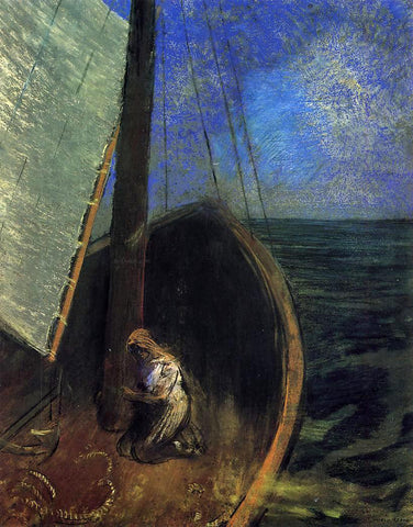 Odilon Redon The Boat - Hand Painted Oil Painting