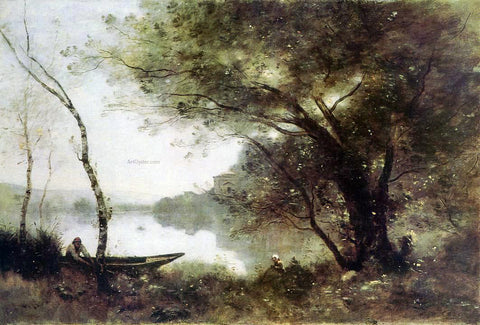 Jean-Baptiste-Camille Corot The Boatmen of Mortefontaine - Hand Painted Oil Painting