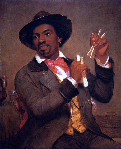 William Sidney Mount The Bone Player - Hand Painted Oil Painting