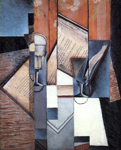 Juan Gris The Book - Hand Painted Oil Painting