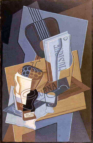 Juan Gris The Book of Music - Hand Painted Oil Painting
