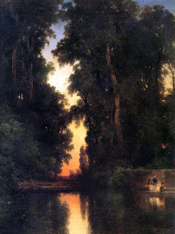 Thomas Moran The Borda Gardens, Mexico - Hand Painted Oil Painting