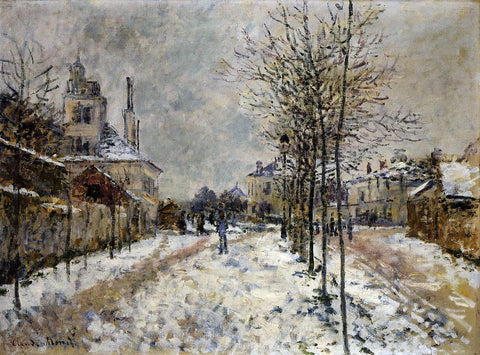 Claude Oscar Monet The Boulevard de Pontoise at Argenteuil, Snow Effect - Hand Painted Oil Painting
