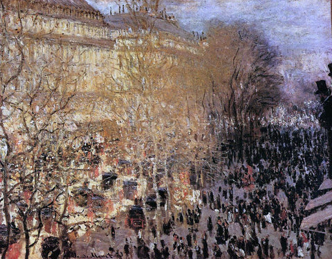 Claude Oscar Monet The Boulevard des Capuchine (also known as Boulevard des Capucines) - Hand Painted Oil Painting