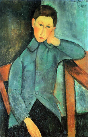 Amedeo Modigliani A Boy - Hand Painted Oil Painting