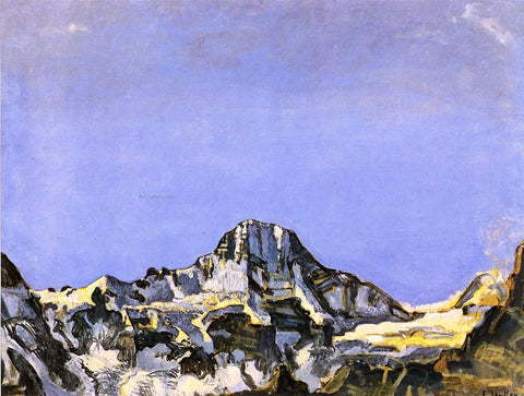 Ferdinand Hodler The Breithorn - Hand Painted Oil Painting