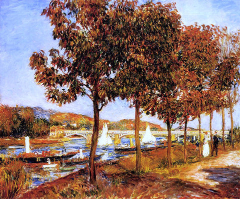 Pierre Auguste Renoir The Bridge at Argenteuil in Autumn - Hand Painted Oil Painting
