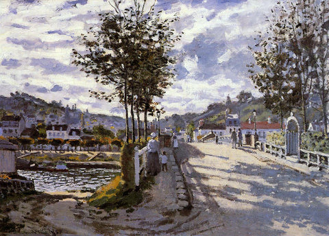 Claude Oscar Monet The Bridge at Bougival - Hand Painted Oil Painting