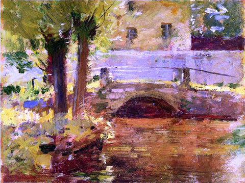 Theodore Robinson The Bridge at Giverny - Hand Painted Oil Painting
