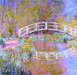 Claude Oscar Monet A Bridge in Monet's Garden - Hand Painted Oil Painting