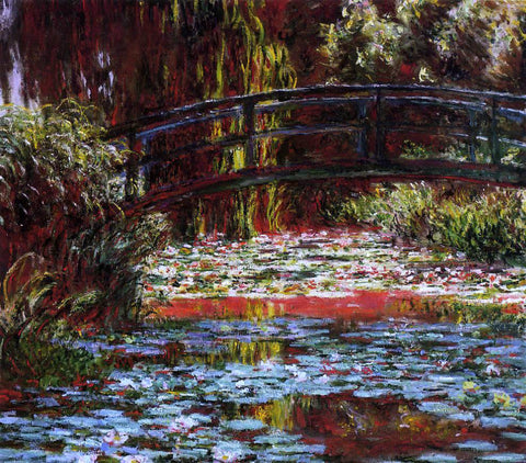 Claude Oscar Monet A Bridge over the Water-Lily Pond - Hand Painted Oil Painting