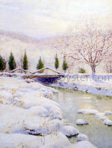 Walter Launt Palmer The Bridge, Winter - Hand Painted Oil Painting