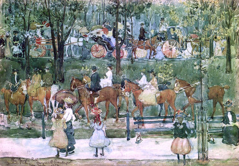 Maurice Prendergast The Bridle Path, Central Park - Hand Painted Oil Painting