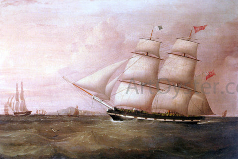 Joseph Heard The Brig Rapid Inward Bound For Liverpool Off Point Lynas - Hand Painted Oil Painting