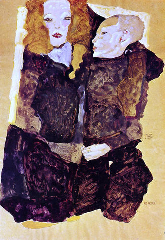 Egon Schiele The Brother - Hand Painted Oil Painting