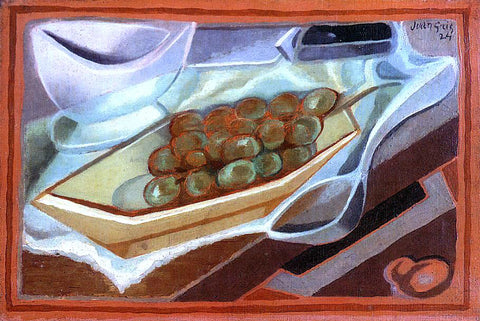 Juan Gris The Bunch of Grapes - Hand Painted Oil Painting