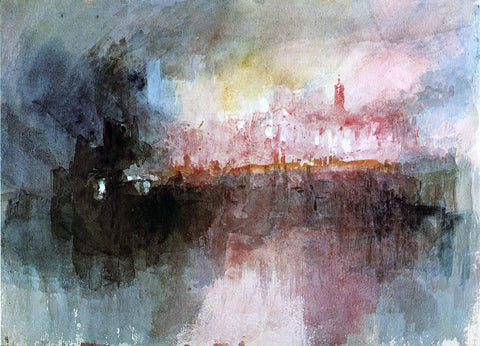 Joseph William Turner The Burning of the Houses of Parliament - Hand Painted Oil Painting