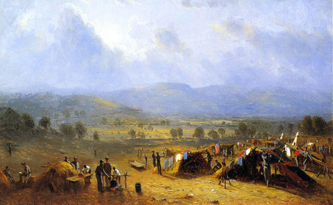 Sanford Robinson Gifford The Camp of the Seventh regiment near Frederick, Maryland - Hand Painted Oil Painting