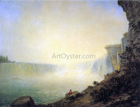 Rembrandt Peale The Canadian Side of Niagara Falls, Platform Rock - Hand Painted Oil Painting