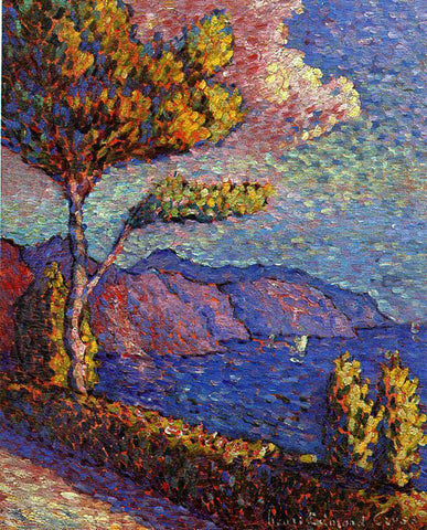 Henri Edmond Cross The Canal near St. Tropez - Hand Painted Oil Painting