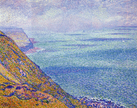 Theo Van Rysselberghe The Cap Gris Nez, Foggy Weather - Hand Painted Oil Painting