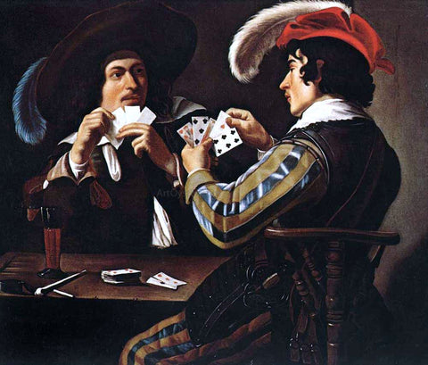 Theodoor Rombouts The Card Players - Hand Painted Oil Painting