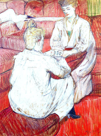 Henri De Toulouse-Lautrec The Card Players - Hand Painted Oil Painting