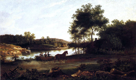 Thomas Birch The Carriage Ride Home - Hand Painted Oil Painting