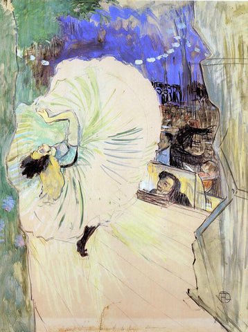 Henri De Toulouse-Lautrec The Cartwheel - Hand Painted Oil Painting