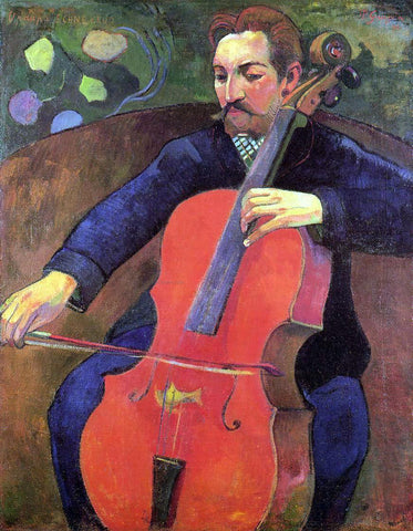 Paul Gauguin The Cellist (also known as Portrait of Fritz Scheklud) - Hand Painted Oil Painting