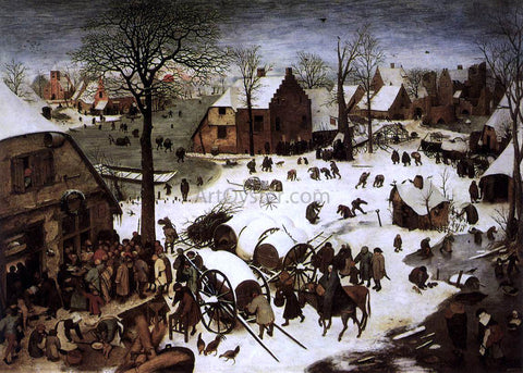 The Elder Pieter Bruegel The Census at Bethlehem - Hand Painted Oil Painting