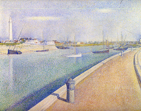 Georges Seurat The Channel at Gravelines, Petit-Fort-Philippe - Hand Painted Oil Painting
