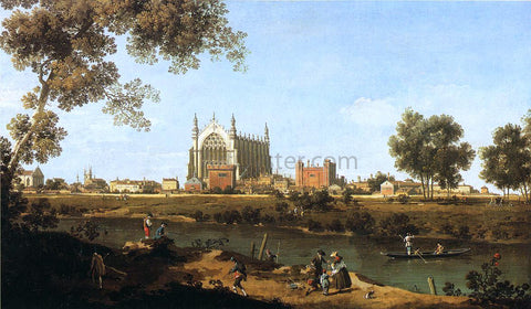 Canaletto The Chapel of Eton College - Hand Painted Oil Painting