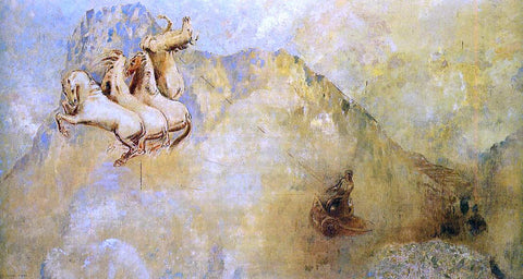Odilon Redon The Chariot of Apollo - Hand Painted Oil Painting