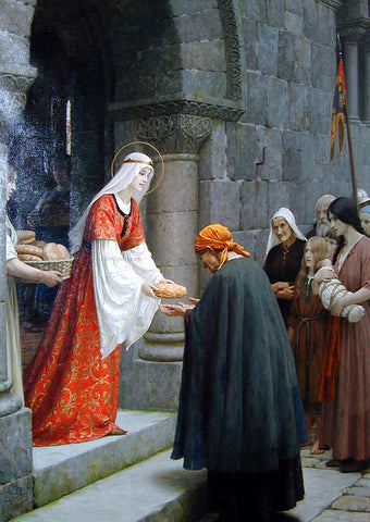 Edmund Blair Leighton The Charity of St. Elizabeth of Hungary - Hand Painted Oil Painting