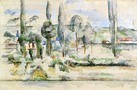 Paul Cezanne The Chateau de Medan - Hand Painted Oil Painting