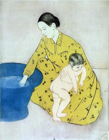 Mary Cassatt The Child's Bath - Hand Painted Oil Painting