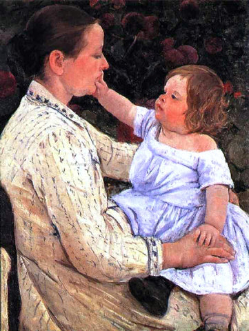 Mary Cassatt The Child's Caress - Hand Painted Oil Painting