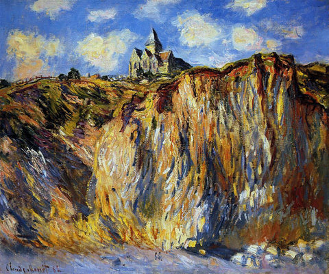 Claude Oscar Monet The Church at Varengeville, Morning Effect - Hand Painted Oil Painting