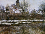 Claude Oscar Monet The Church at Vetheuil, Snow - Hand Painted Oil Painting