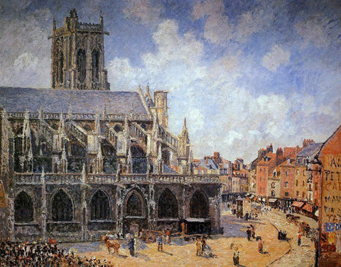 Camille Pissarro The Church of Saint-Jacques, Dieppe: Morning Sun - Hand Painted Oil Painting