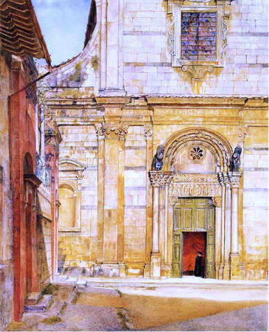 Henry Roderick Newman The Church of San Giovanni, Luca - Hand Painted Oil Painting