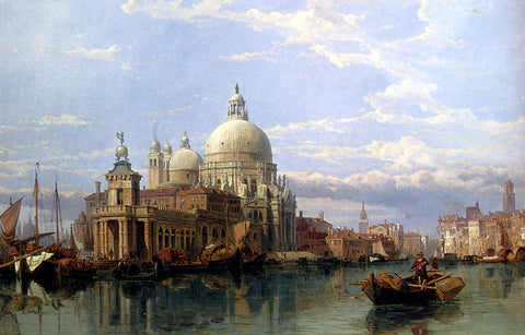 George Clarkson Stanfield Church of Santa Maria Della Salute, Venice - Hand Painted Oil Painting