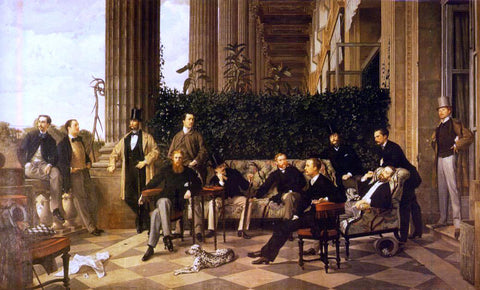 James Tissot The Circle of the Rue Royale - Hand Painted Oil Painting