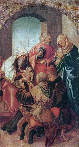 Hans Leonhard Schaufelein The Circumcision of Christ - Hand Painted Oil Painting