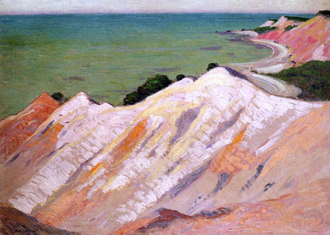 Arthur Wesley Dow The Clay Cliff, Gay Head, Massachusetts - Hand Painted Oil Painting
