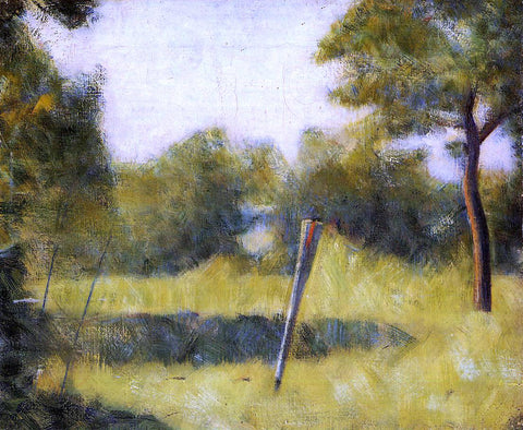 Georges Seurat The Clearing (also known as Landscape with a Stake) - Hand Painted Oil Painting
