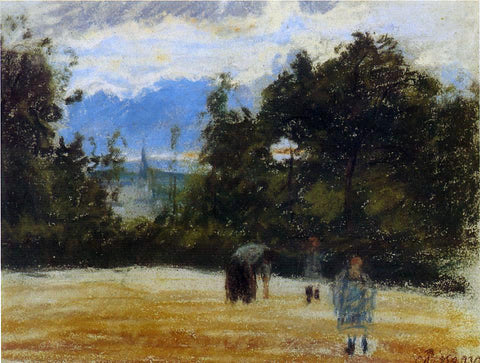Camille Pissarro The Clearing - Hand Painted Oil Painting