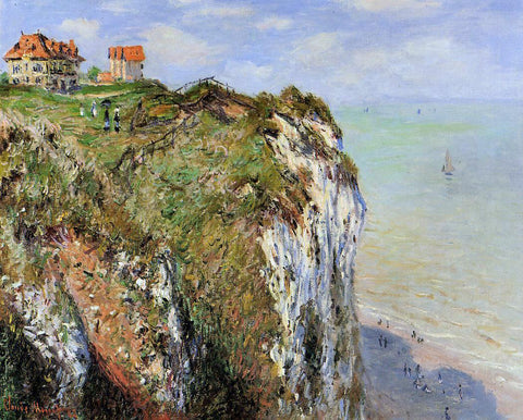 Claude Oscar Monet The Cliff at Dieppe - Hand Painted Oil Painting
