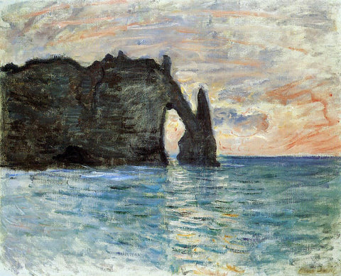Claude Oscar Monet The Cliff at Etretat - Hand Painted Oil Painting